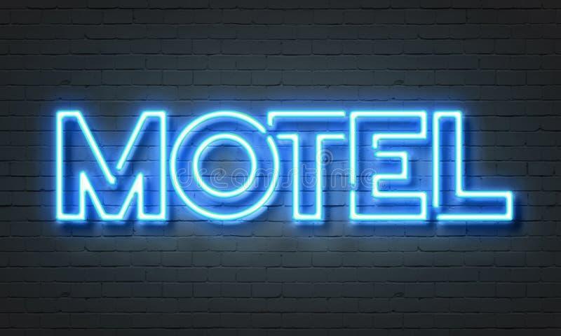 Insegna al neon del motel illustrazione vettoriale