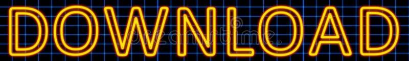 Insegna al neon di download illustrazione di stock