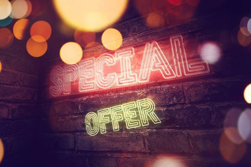 Insegna al neon di offerta speciale illustrazione vettoriale