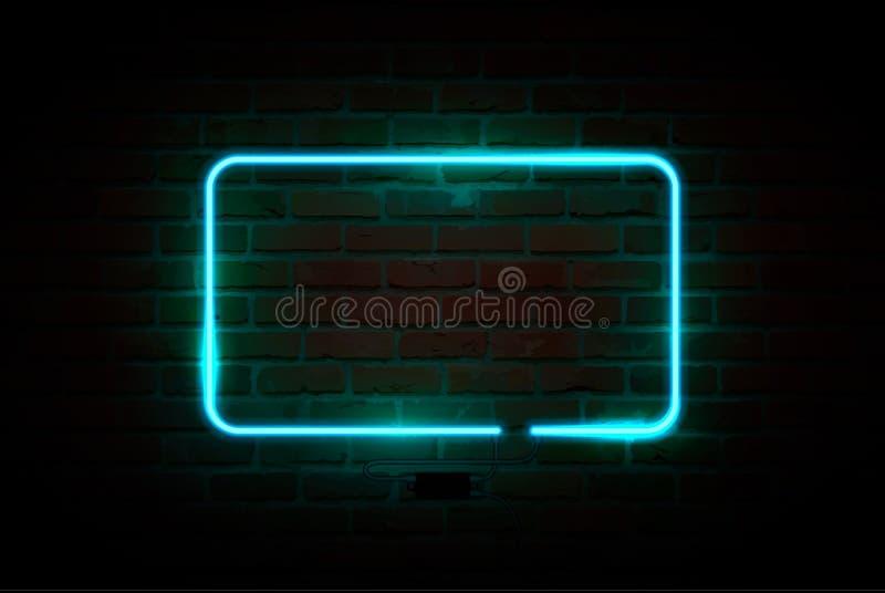 Insegna al neon, insegna luminosa, insegna d'ardore Illustrazione di vettore illustrazione vettoriale