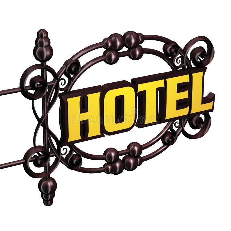 Insegna all'hotel illustrazione di stock