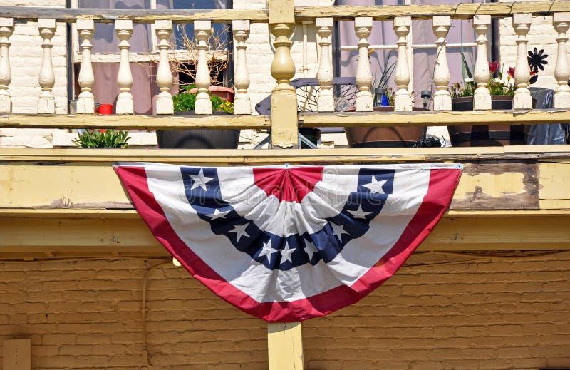 Insegna americana sulla casa immagine stock libera da diritti
