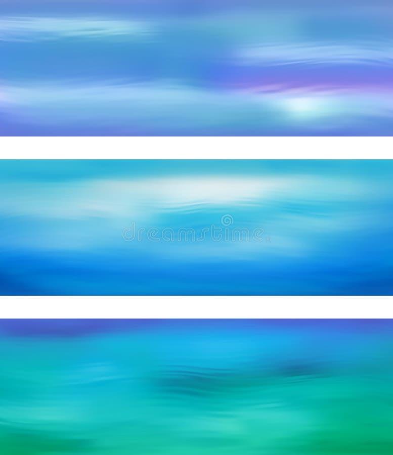 Insegna astratta dell'acqua blu di vettore royalty illustrazione gratis