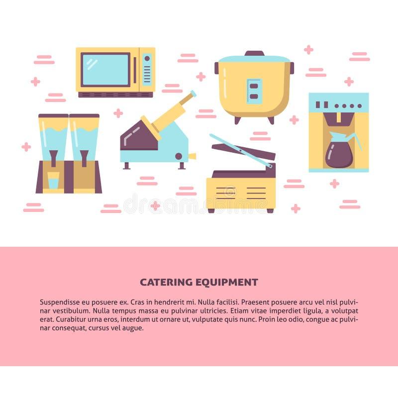 Insegna d'approvvigionamento professionale di concetto dell'attrezzatura nello stile piano illustrazione di stock