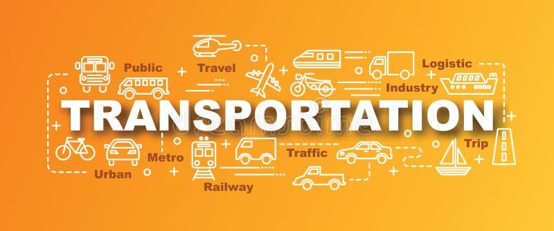 Insegna d'avanguardia di vettore del trasporto illustrazione di stock