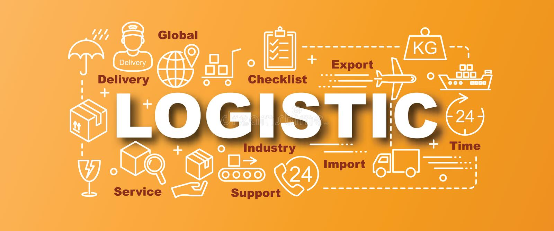 Insegna d'avanguardia di vettore logistico royalty illustrazione gratis