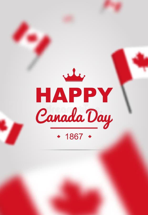 Insegna degli elementi di progettazione per il giorno del Canada il primo luglio illustrazione di stock