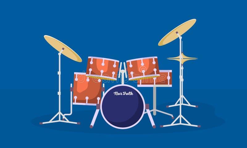 Insegna del corredo dei tamburi di concerto, stile piano royalty illustrazione gratis