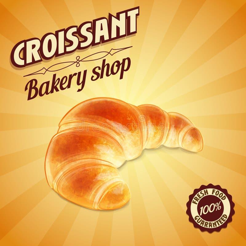 INSEGNA del croissant illustrazione di stock