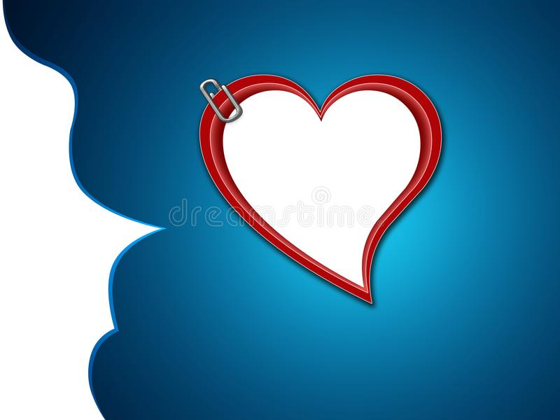 Insegna del cuore di amore fotografie stock