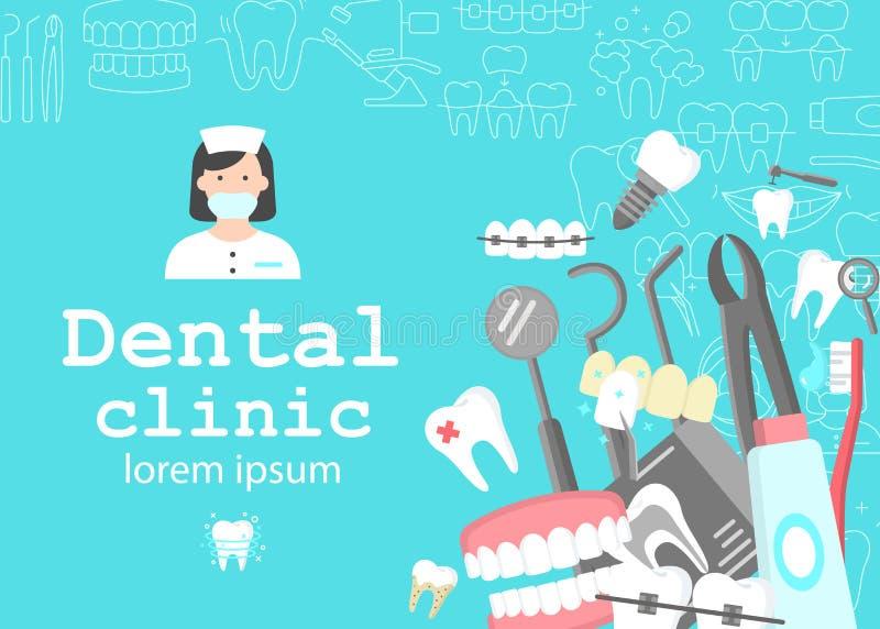 Insegna del gabinetto dentario royalty illustrazione gratis
