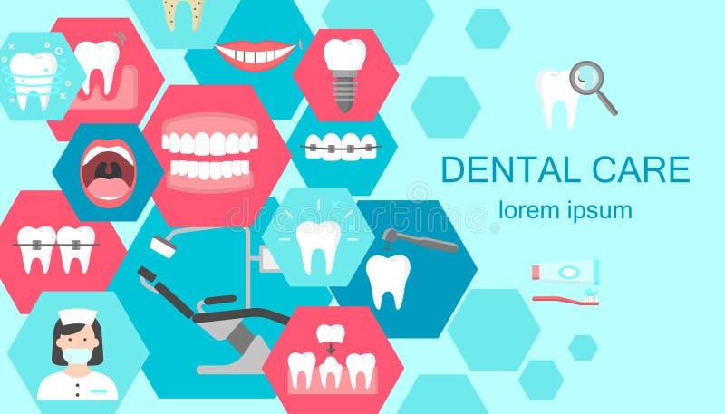 Insegna del gabinetto dentario illustrazione vettoriale