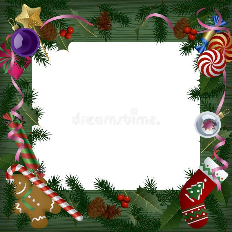Insegna del nuovo anno e di natale e cartolina d'auguri illustrazione di stock