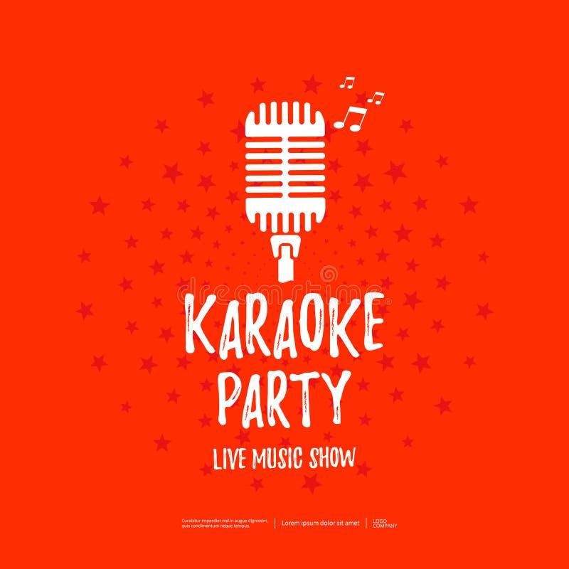 Insegna del partito di karaoke royalty illustrazione gratis