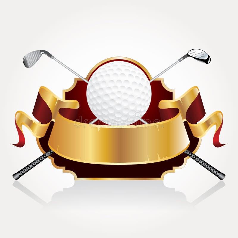Insegna del premio di golf illustrazione vettoriale