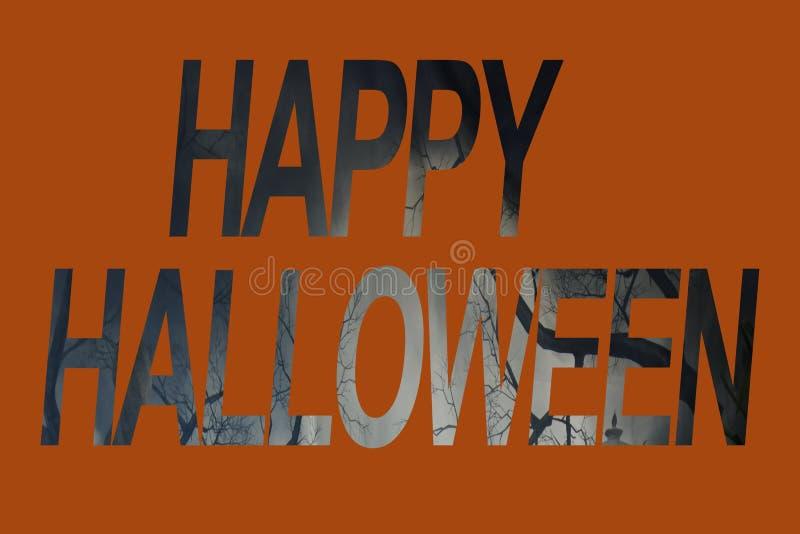 Insegna del segno di Halloween fotografia stock