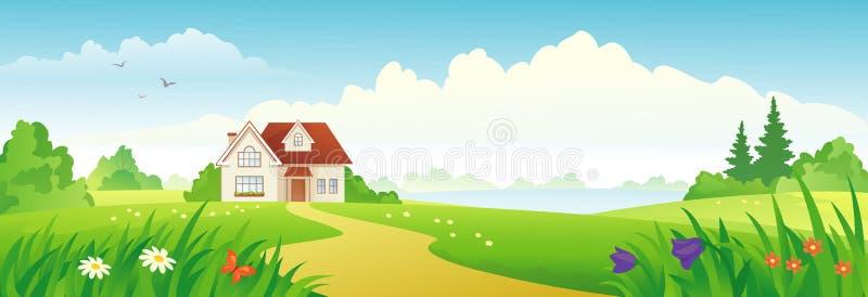 Insegna della casa di estate illustrazione di stock