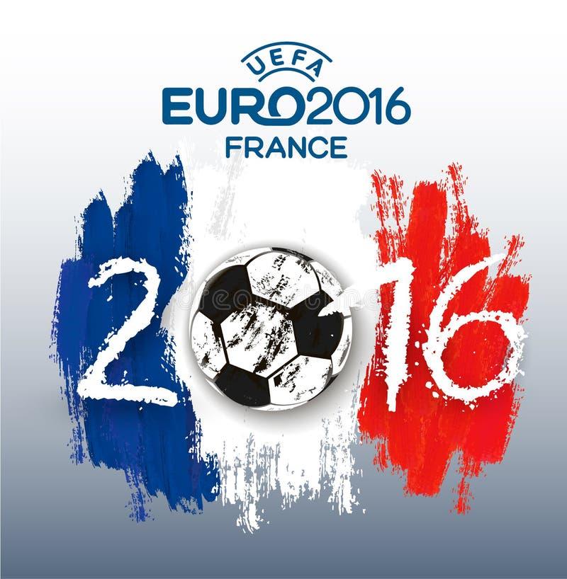 Insegna 2016 della Francia dell'euro royalty illustrazione gratis