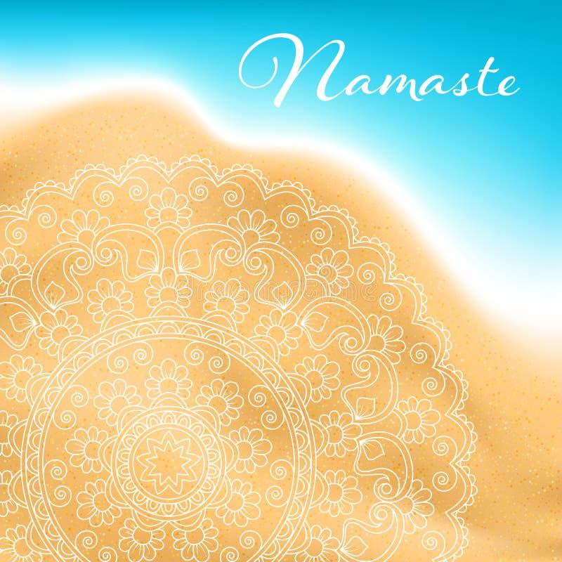 Insegna della mandala di Namaste illustrazione vettoriale