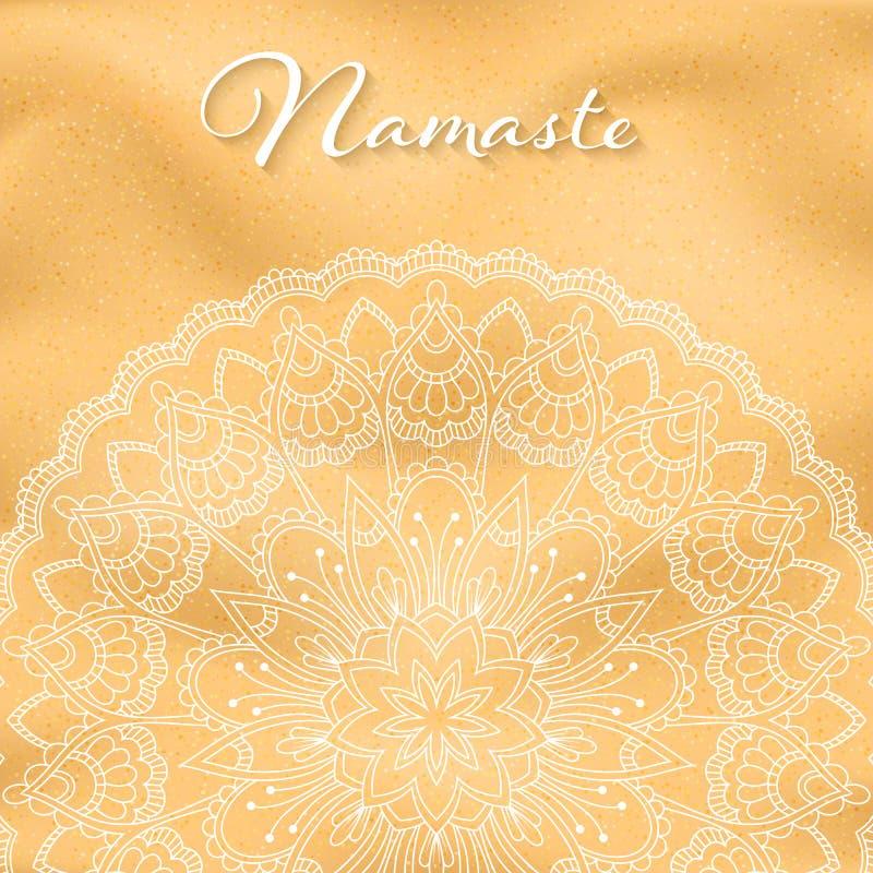 Insegna della mandala di Namaste royalty illustrazione gratis