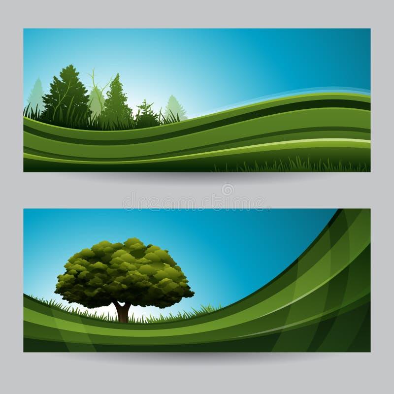 Insegna della natura del fondo della primavera con l'albero royalty illustrazione gratis