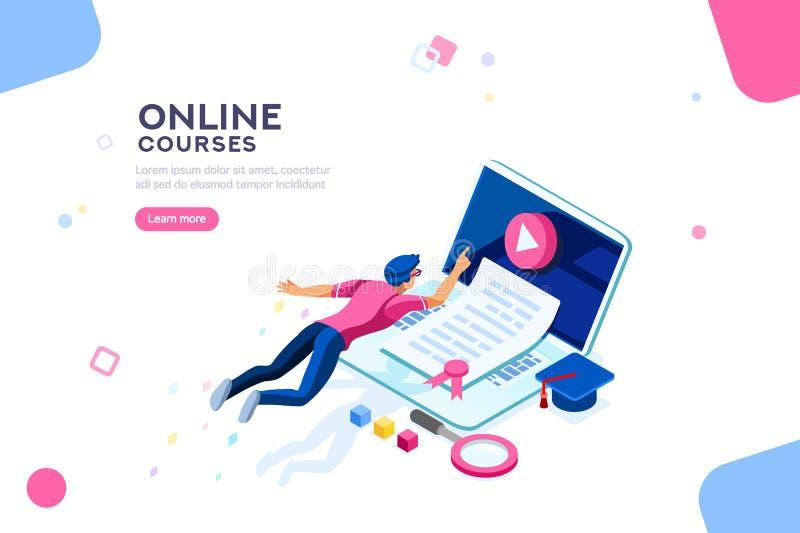 Insegna della pagina Web del modello dell'istituto universitario illustrazione di stock