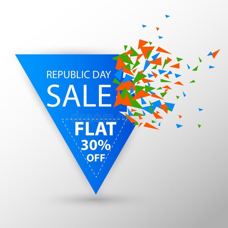 Insegna della pubblicità di promozione di vendita per il 26 gennaio, giorno felice della Repubblica dell'India royalty illustrazione gratis