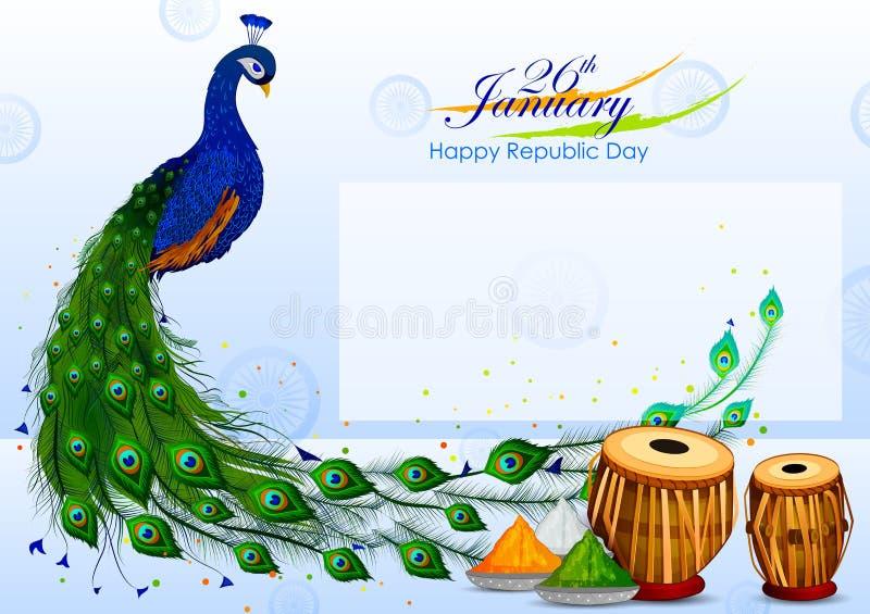 Insegna della pubblicità di promozione di vendita per la Repubblica tricolore o la festa dell'indipendenza dell'India royalty illustrazione gratis