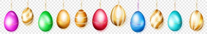 Insegna di attaccatura delle uova di Pasqua colorate royalty illustrazione gratis