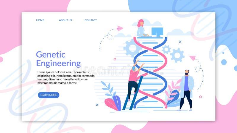 Insegna di Binformative che costruisce fumetto genetico royalty illustrazione gratis
