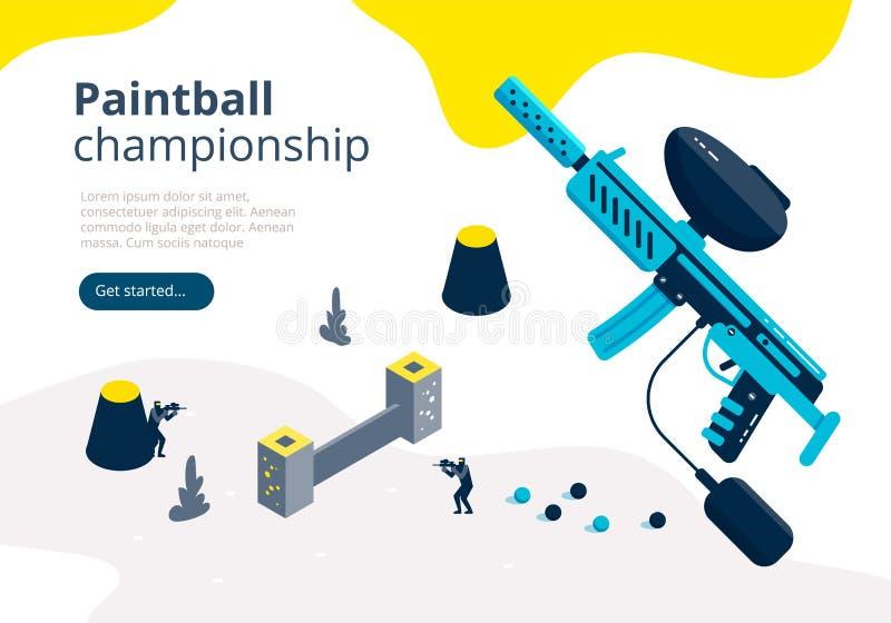 Insegna di campionato di paintball royalty illustrazione gratis