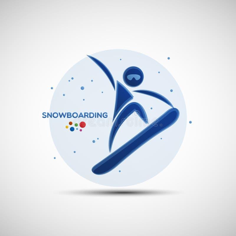Insegna di campionato di snowboard illustrazione di stock
