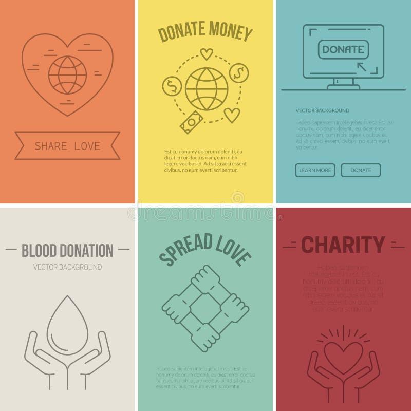 Insegna di carità illustrazione vettoriale