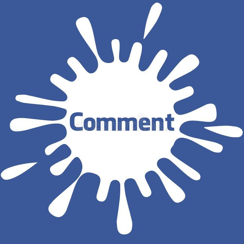 Insegna di commento di Facebook illustrazione di stock