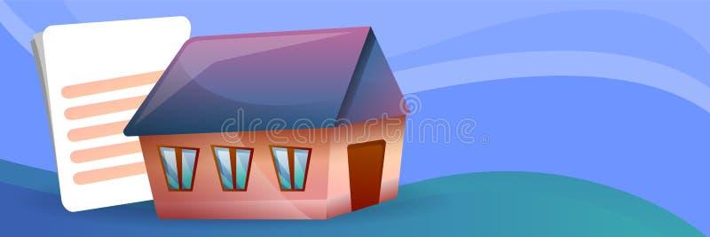 Insegna di concetto di ipoteca della Camera, stile del fumetto illustrazione vettoriale