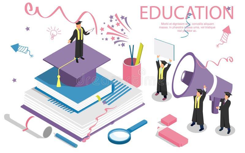 Insegna di concetto di istruzione con i caratteri Può usare per l'insegna di web, il infographics, immagini dell'eroe royalty illustrazione gratis