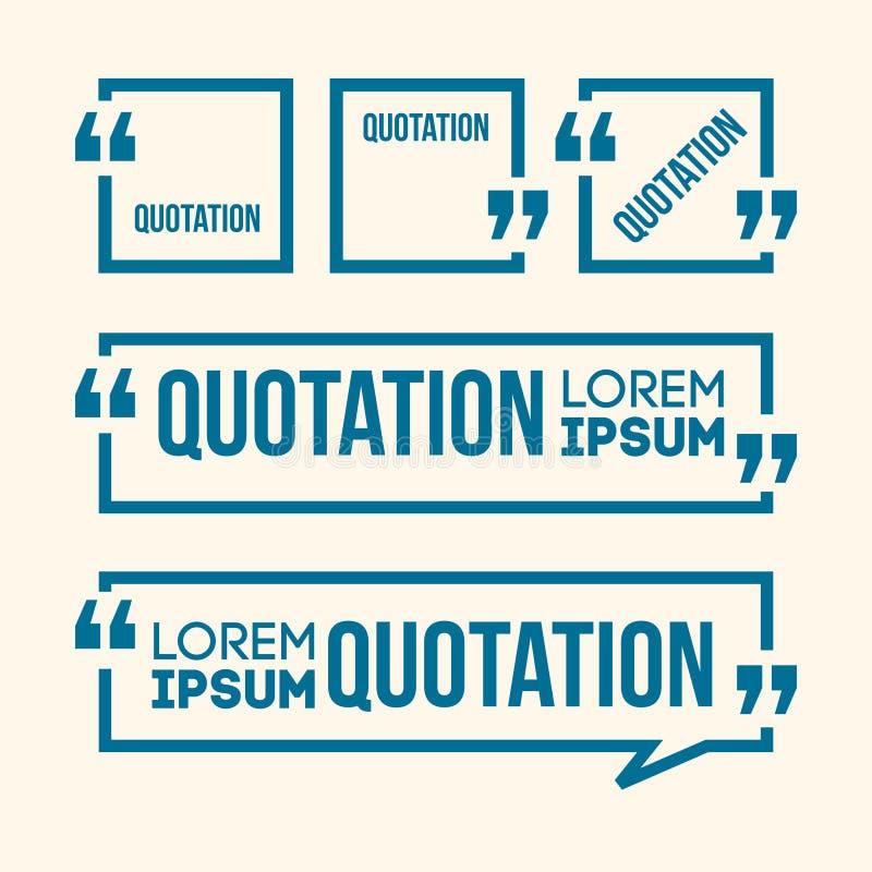 Insegna di discorso di citazione illustrazione di stock