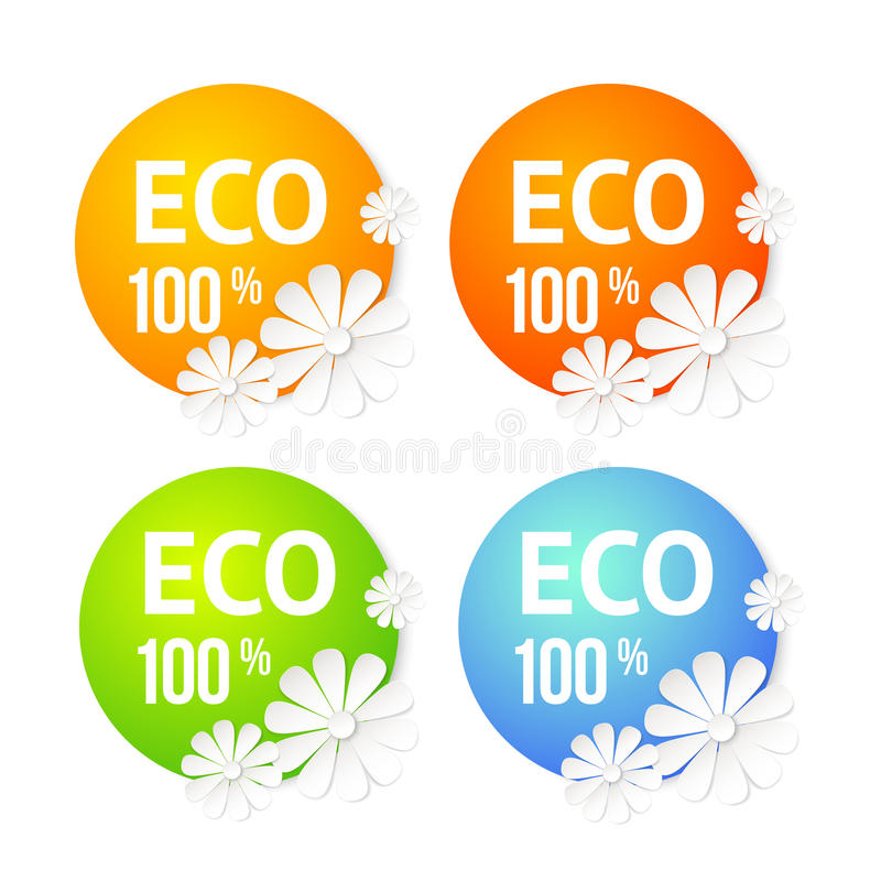Insegna di Eco del fiore. illustrazione vettoriale