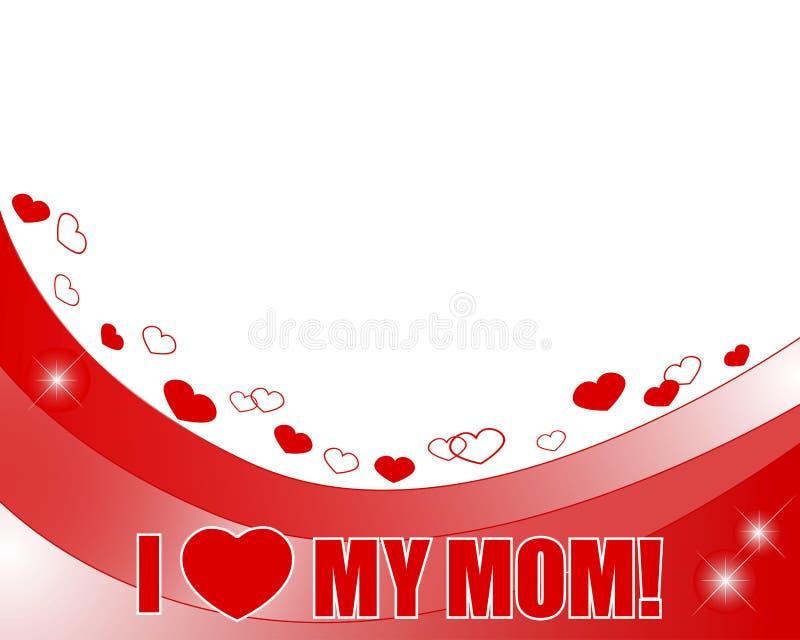Insegna di festa della Mamma. illustrazione vettoriale