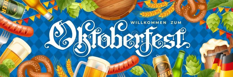 Insegna di festival della birra di Oktoberfest fotografia stock
