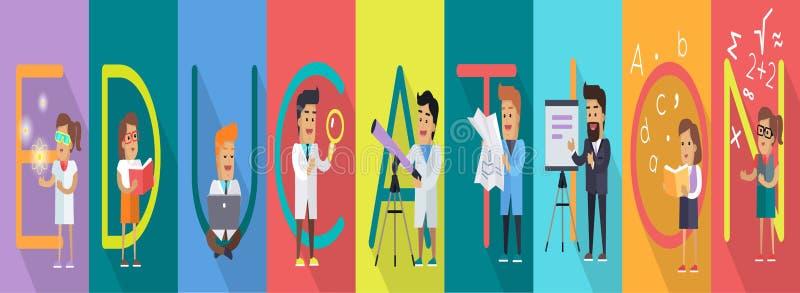 Insegna di istruzione Alfabeto di scienza royalty illustrazione gratis