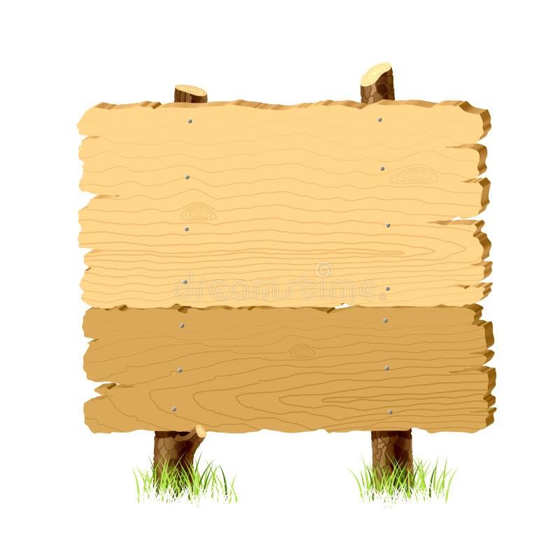 Insegna di legno illustrazione di stock