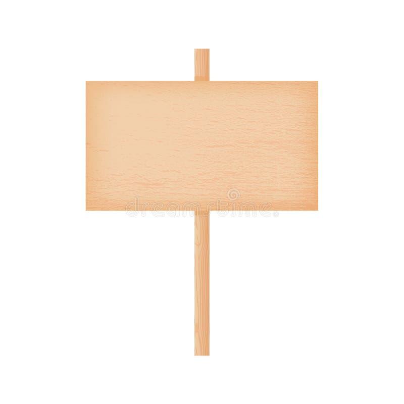 Insegna di legno del faggio su un palo royalty illustrazione gratis
