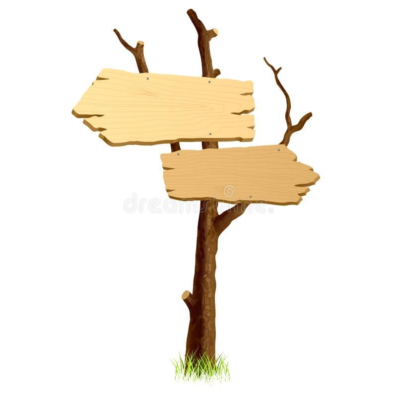 Insegna di legno. Vettore. royalty illustrazione gratis