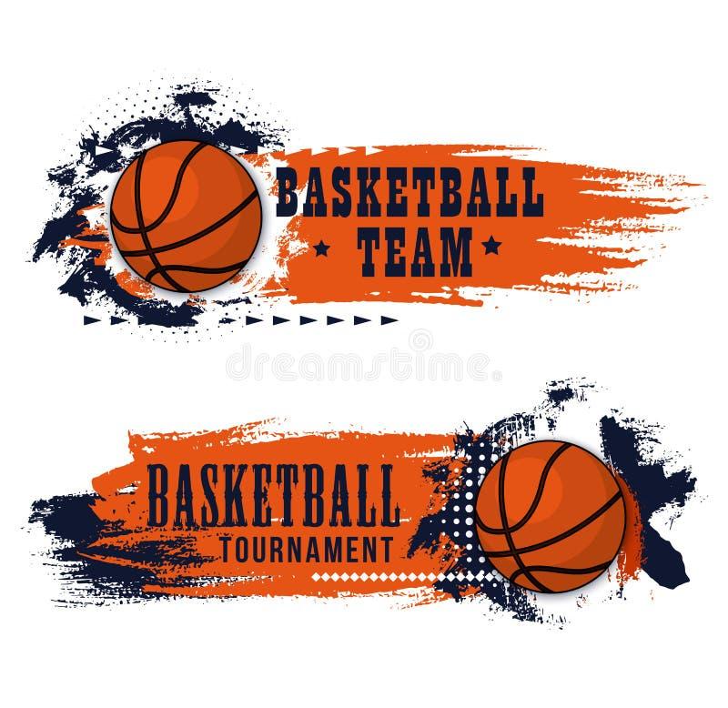 Insegna di lerciume del gioco di sport di pallacanestro royalty illustrazione gratis