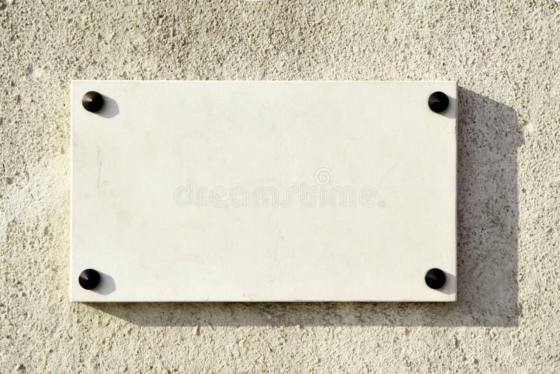 Insegna di marmo in bianco fotografia stock libera da diritti