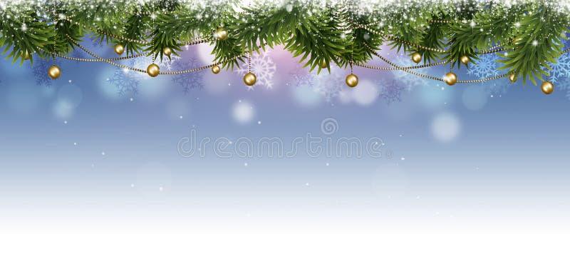 Insegna di Natale di festa illustrazione vettoriale
