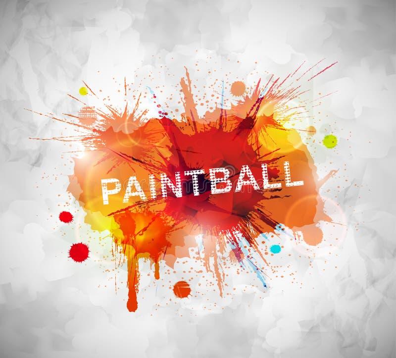 Insegna di paintball illustrazione vettoriale
