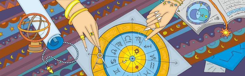 Insegna di pronostico di astrologia illustrazione vettoriale