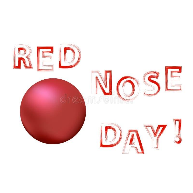 Insegna di Red Nose Day del pagliaccio illustrazione vettoriale